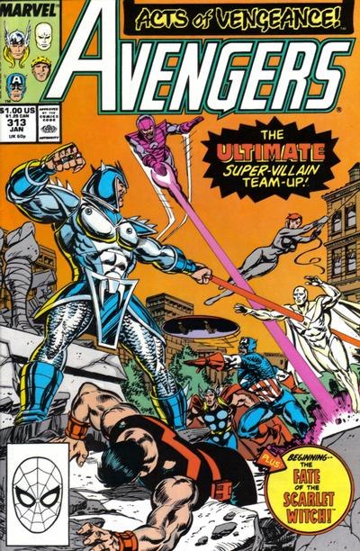Cover for The Avengers (Marvel, 1963 series) #313 [Direct Edition]