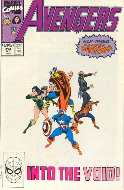 Cover for The Avengers (Marvel, 1963 series) #314 [Direct Edition]