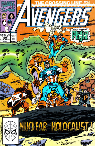 Cover for The Avengers (Marvel, 1963 series) #324 [Direct Edition]