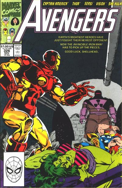 Cover for The Avengers (Marvel, 1963 series) #326 [Direct]