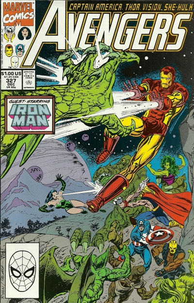 Cover for The Avengers (Marvel, 1963 series) #327 [Direct Edition]