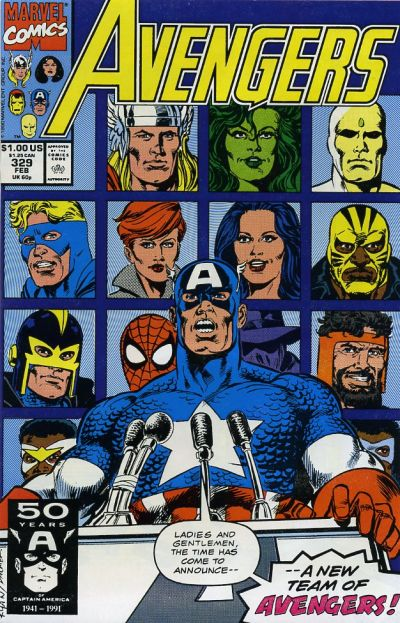 Cover for The Avengers (Marvel, 1963 series) #329 [Direct Edition]
