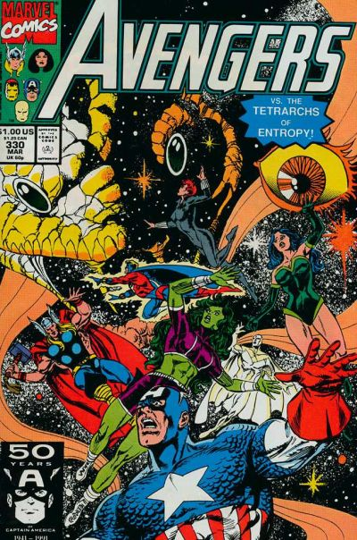 Cover for The Avengers (Marvel, 1963 series) #330 [Direct Edition]