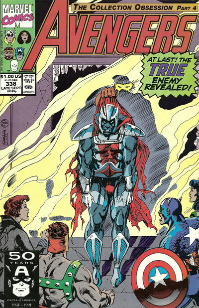 Cover for The Avengers (Marvel, 1963 series) #338 [Direct Edition]