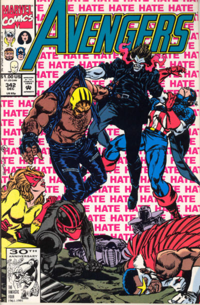 Cover for The Avengers (Marvel, 1963 series) #342 [Direct Edition]