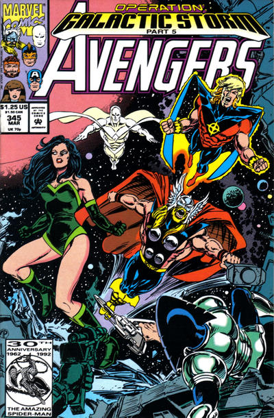 Cover for The Avengers (Marvel, 1963 series) #345 [Direct Edition]