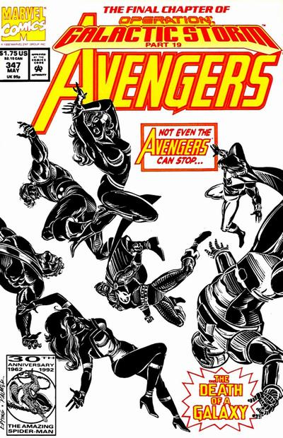 Cover for The Avengers (Marvel, 1963 series) #347 [Direct Edition]