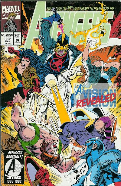 Cover for The Avengers (Marvel, 1963 series) #362 [Direct Edition]
