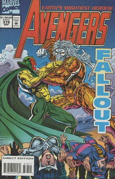 Cover for The Avengers (Marvel, 1963 series) #378 [Direct Edition]