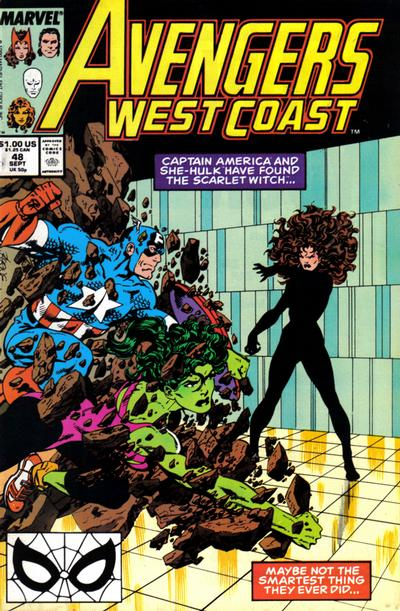 Cover for Avengers West Coast (Marvel, 1989 series) #48 [Direct Edition]