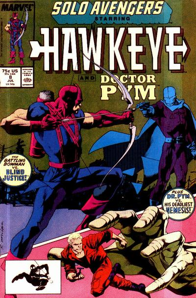 Cover for Solo Avengers (Marvel, 1987 series) #8 [Newsstand]