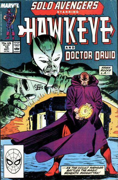 Cover for Solo Avengers (Marvel, 1987 series) #10