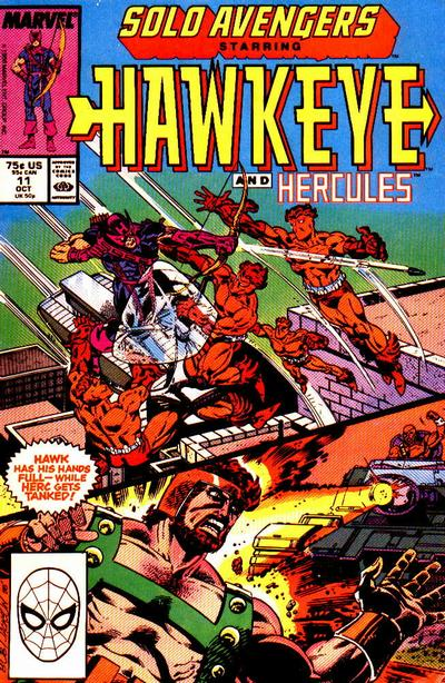 Cover for Solo Avengers (Marvel, 1987 series) #11 [Newsstand]