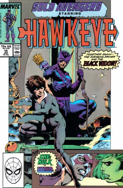 Cover for Solo Avengers (Marvel, 1987 series) #14
