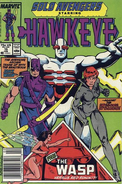 Cover for Solo Avengers (Marvel, 1987 series) #15 [Direct]