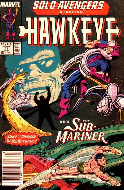 Cover for Solo Avengers (Marvel, 1987 series) #17