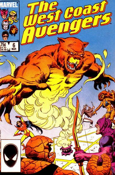 Cover for West Coast Avengers (Marvel, 1985 series) #6 [Newsstand Edition]