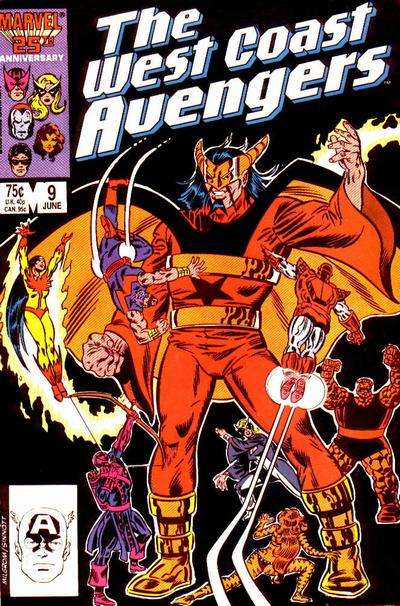 Cover for West Coast Avengers (Marvel, 1985 series) #9 [Direct Edition]