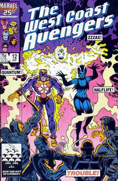 Cover for West Coast Avengers (Marvel, 1985 series) #12 [Direct Edition]