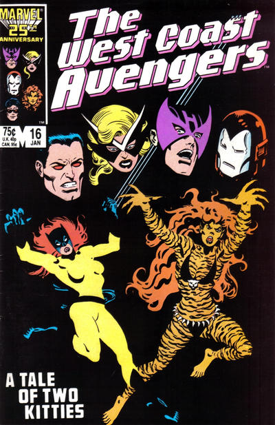 Cover for West Coast Avengers (Marvel, 1985 series) #16 [Direct Edition]