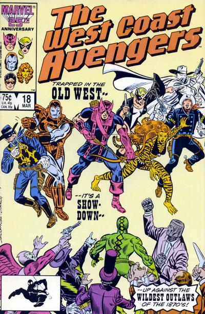 Cover for West Coast Avengers (Marvel, 1985 series) #18 [Direct Edition]
