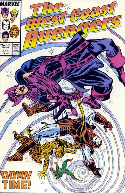Cover for West Coast Avengers (Marvel, 1985 series) #19 [Direct Edition]