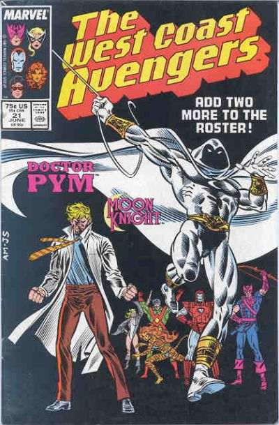 Cover for West Coast Avengers (Marvel, 1985 series) #21 [Direct Edition]