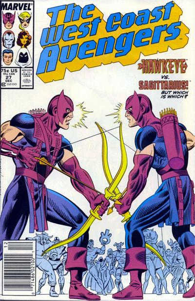 Cover for West Coast Avengers (Marvel, 1985 series) #27 [Direct Edition]