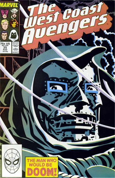 Cover for West Coast Avengers (Marvel, 1985 series) #35 [Direct Edition]