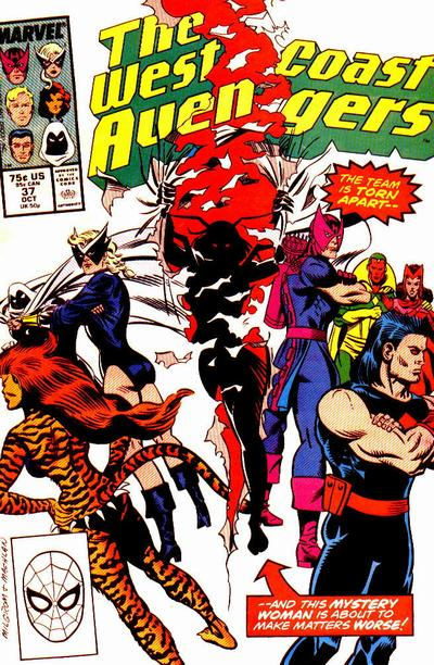 Cover for West Coast Avengers (Marvel, 1985 series) #37 [Newsstand Edition]