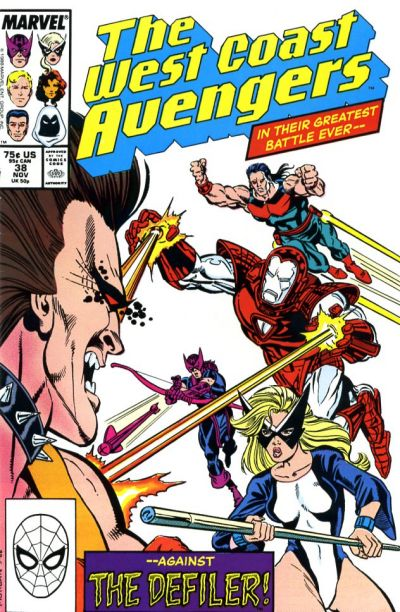 Cover for West Coast Avengers (Marvel, 1985 series) #38 [Direct Edition]