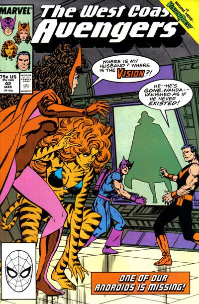 Cover for West Coast Avengers (Marvel, 1985 series) #42 [Direct]