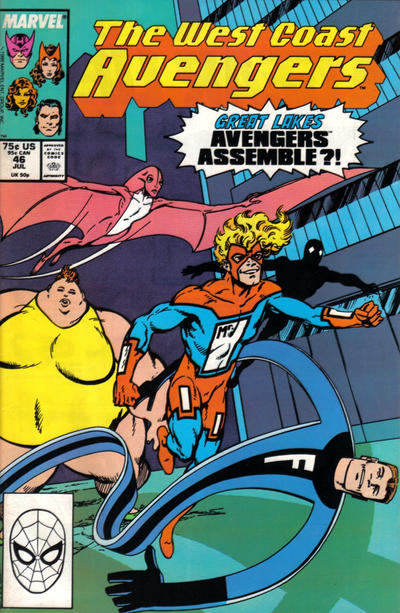 Cover for West Coast Avengers (Marvel, 1985 series) #46 [Direct Edition]