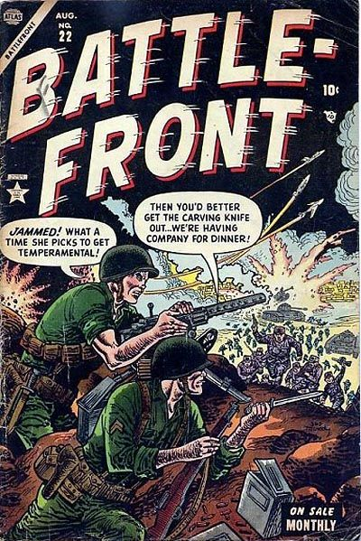 Cover for Battlefront (Marvel, 1952 series) #22