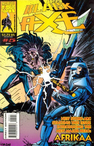 Cover for Black Axe (Marvel, 1993 series) #5