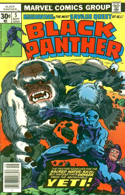 Cover for Black Panther (Marvel, 1977 series) #5 [35 cent cover price variant]