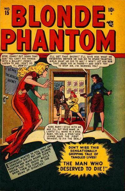 Cover for Blonde Phantom Comics (Marvel, 1946 series) #15