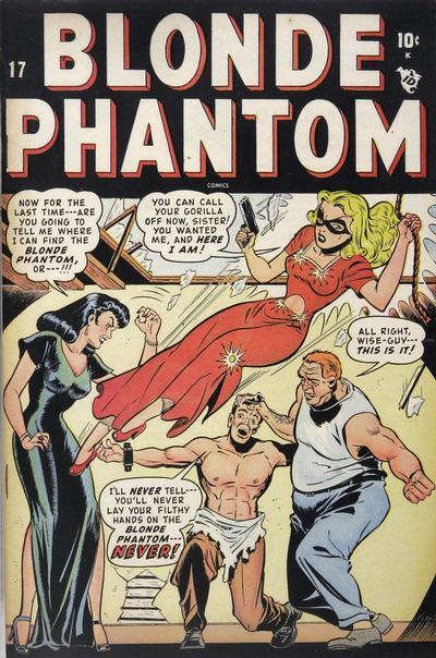 Cover for Blonde Phantom Comics (Marvel, 1946 series) #17