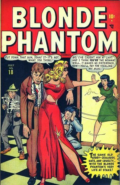 Cover for Blonde Phantom Comics (Marvel, 1946 series) #18