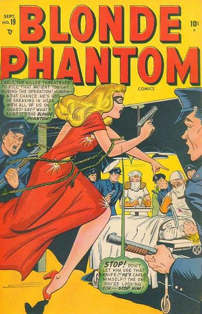 Cover for Blonde Phantom Comics (Marvel, 1946 series) #19
