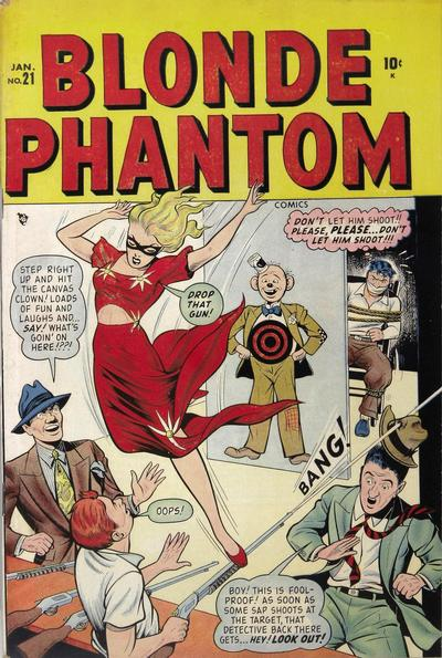 Cover for Blonde Phantom Comics (Marvel, 1946 series) #21