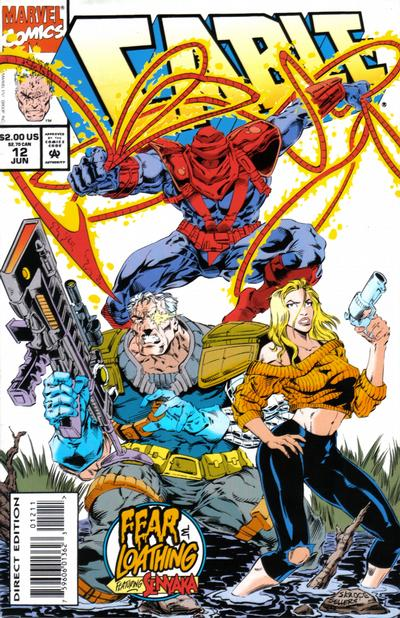Cover for Cable (Marvel, 1993 series) #12 [Direct Edition]