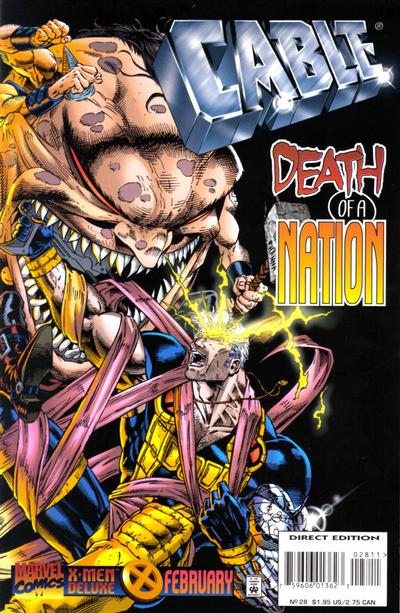 Cover for Cable (Marvel, 1993 series) #28 [Newsstand]