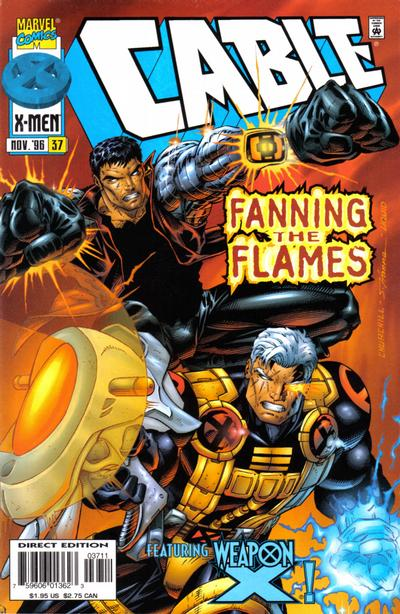 Cover for Cable (Marvel, 1993 series) #37 [Direct Edition]