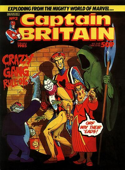 Cover for Captain Britain (Marvel UK, 1985 series) #2