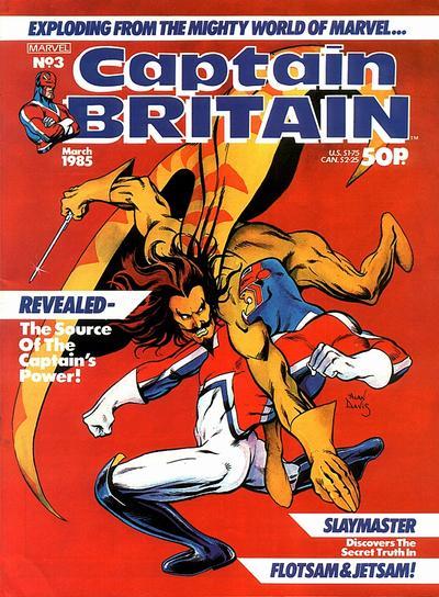 Cover for Captain Britain (Marvel UK, 1985 series) #3