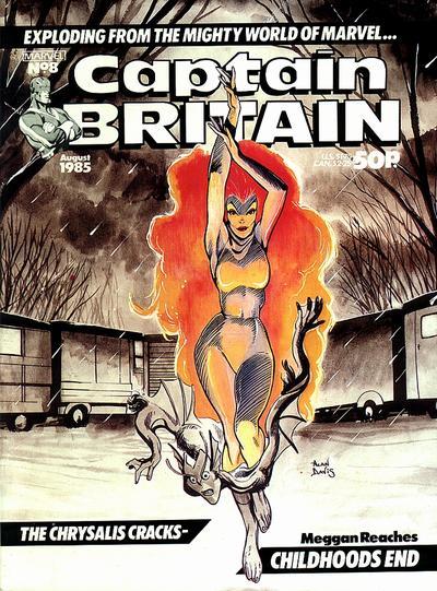 Cover for Captain Britain (Marvel UK, 1985 series) #8