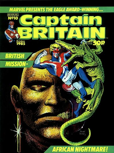Cover for Captain Britain (Marvel UK, 1985 series) #10