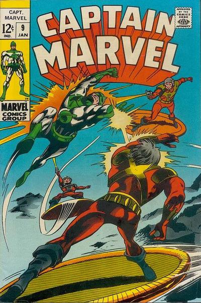 Cover for Captain Marvel (Marvel, 1968 series) #9