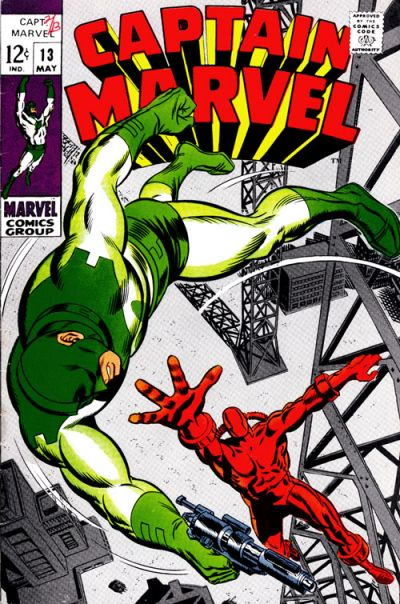 Cover for Captain Marvel (Marvel, 1968 series) #13